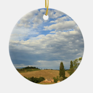 Tuscan countryside Tuscany, Central Italy Ceramic Ornament