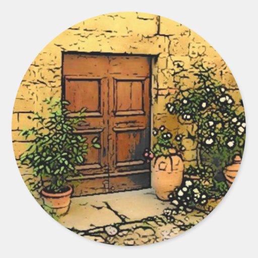 Tuscan Doorway Stickers