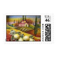Tuscan Farm Postage Stamp