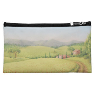 Tuscan Farmhouse, Italy In Pastel Cosmetic Bag
