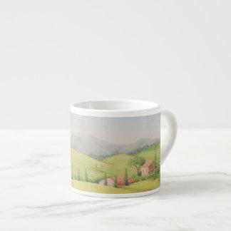 Tuscan Farmhouse, Italy in Pastel Espresso Mug