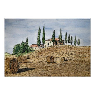 Tuscan Field Poster