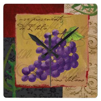 Tuscan Grapes Wall Clock