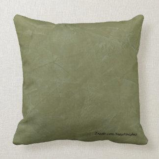 Tuscan Green Faux Stone Pattern Throw Pillows
