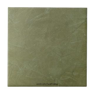 Tuscan Green Venetian Plaster Ceramic Tile