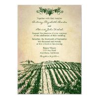 Tuscan Green Winery Vineyard Wedding Invitations
