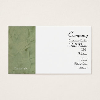 Tuscan Green Wrapped Business Cards