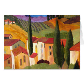 Tuscan Hillside by Artist Therese Fowler-Bailey Greeting Card