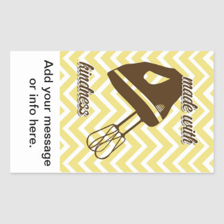 tuscan kitchen - Hand mixer on chevron. Rectangular Sticker