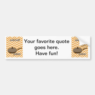 tuscan kitchen - pan on chevron bumper sticker