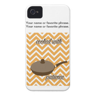tuscan kitchen - pan on chevron iPhone 4 cover