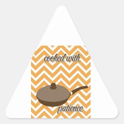 tuscan kitchen - pan on chevron triangle stickers