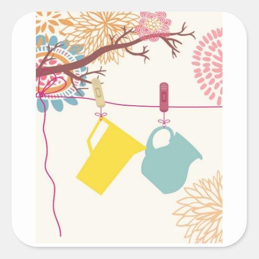 Tuscan-Kitchen - Pitcher on floral. Sticker