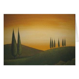 Tuscan Landscape - Birthday Card