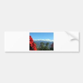 Tuscan landscape car bumper sticker