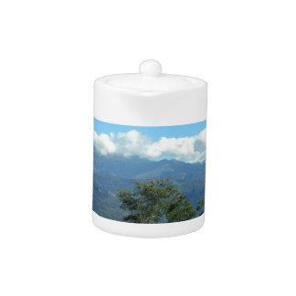 Tuscan landscape teapot