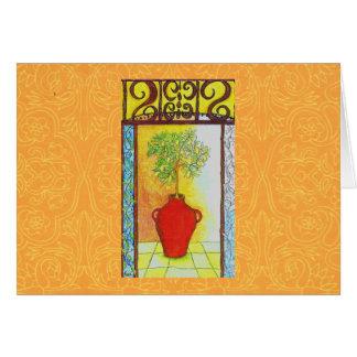 TUSCAN LIMONE TREE CARD