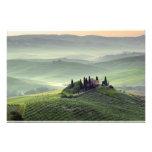 Tuscan morning photo print
