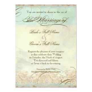 Tuscan Olive Tree n Swirl - Wedding Invitation