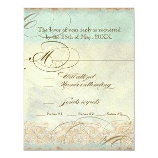 Tuscan Olive Tree n Swirl - Wedding RSVP Response Card