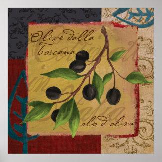 Tuscan Olives Poster