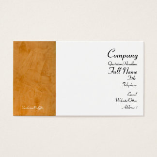 Tuscan Orange Wrapped Business Cards