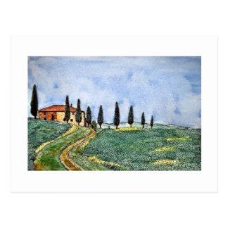 Tuscan Path Postcard