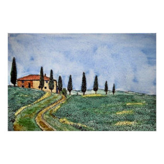 Tuscan Path Posters