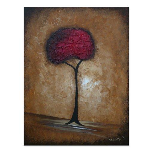 Tuscan Red Tree Postcard
