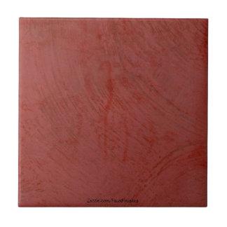 Tuscan Red Venetian Plaster Ceramic Tile