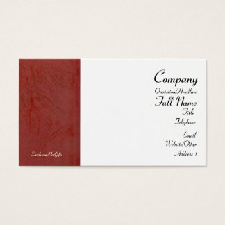 Tuscan Red Wrapped Business Cards