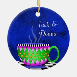 Tuscan Style Espresso Coffee Cup Coaster Ceramic Ornament