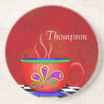 Tuscan Style Java Coffee Cup Coaster
