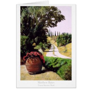 Tuscan Summer Road by Matthew Bates Greeting Card