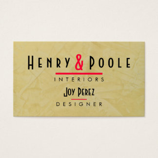 Tuscan Sun Interior Design Company Business Cards
