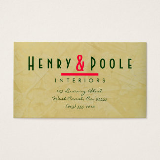 Tuscan Sun Interior Designer Business Cards 002