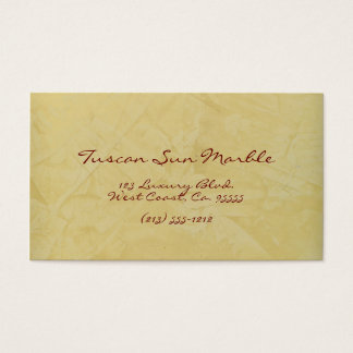 Tuscan Sun Marble Business Card