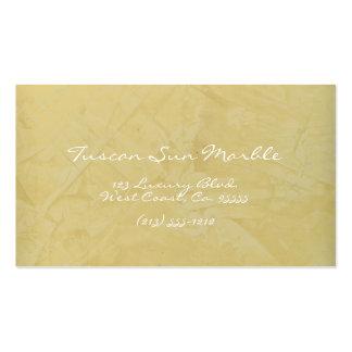 Tuscan Sun Marble Business Card Templates