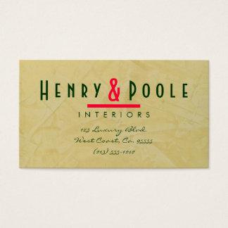 Tuscan Sun Plaster Interior Designer Business Card