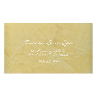 Tuscan Sun Spa Business Cards