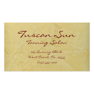 Tuscan Sun Tanning Salon Business Cards