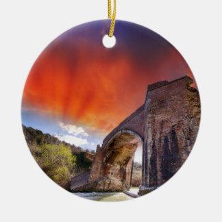 Tuscan Sunset Ceramic Ornament