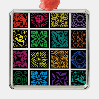Tuscan Tiles Metal Ornament
