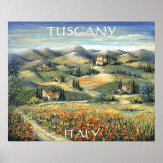 Tuscan Villa And Poppies Print