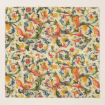 """Tuscan Vines Chifon Scarf<br><div class=""""desc"""">TUSCAN VINES  A typical italian renaissance design motif features vivid colorful vines and flowers. NOTE: The design extends to the edge of the scarf and does not include a beige border as it appears in the sample photo. Please choose hem thread color above.</div>"""
