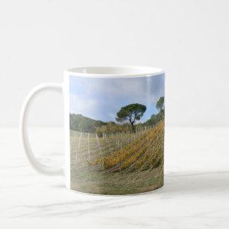 Tuscan vineyard in autumn mugs