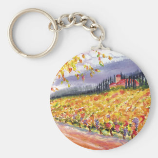 Tuscan vineyard keychain