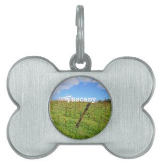 Tuscan Vineyard Pet ID Tag