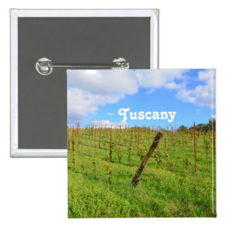 Tuscan Vineyard Pinback Button
