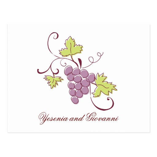 Tuscan Vineyard Save the Date postcard